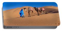 Tuareg Man Leading Camel Train Portable Battery Charger