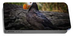 Tufted Puffin Portable Battery Charger by Mark Kiver