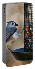 Portable Battery Charger featuring the photograph Tufted Stance by Lana Trussell