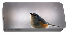 Tufted Titmouse Portable Battery Charger by Cricket Hackmann
