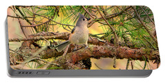 Tufted Titmouse Portable Battery Charger by Deena Stoddard