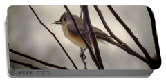 Tufted Titmouse Portable Battery Charger by Karen Wiles