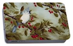 Tufted Titmouse Portable Battery Charger by Rick Bainbridge