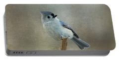 Tufted Titmouse Watching Portable Battery Charger