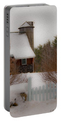 Tuftonboro Farm In Snow Portable Battery Charger