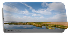 Portable Battery Charger featuring the photograph Tule Lake Marshland by Jeff Goulden