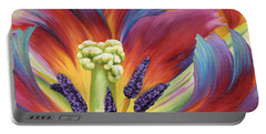 Tulip Color Study Portable Battery Charger by Jane Girardot
