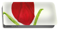 Tulip Of The Heart Portable Battery Charger by Tracey Williams