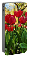 Portable Battery Charger featuring the photograph Tulip Time by Peggy Hughes