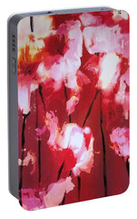 Portable Battery Charger featuring the painting Tulip Twist by Sandra Strohschein