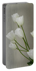 Tulips Against Pillar Portable Battery Charger