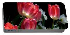 Portable Battery Charger featuring the photograph Tulips And Daffodils by Lucinda Walter