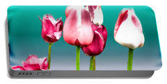 Portable Battery Charger featuring the digital art Tulips by Daniel Janda