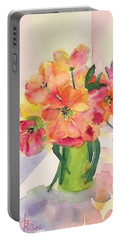 Tulips For Mother's Day Portable Battery Charger by Anna Ruzsan