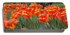 Tulips From Brooklyn Portable Battery Charger by John Telfer