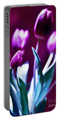 Purple Tulips Portable Battery Charger