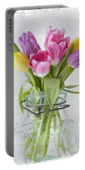 Tulips In A Jar Portable Battery Charger