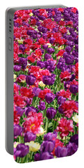 Tulips In A Meadow Portable Battery Charger