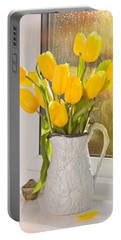 Tulips In Antique Jug Portable Battery Charger