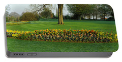 Tulips In Hyde Park, City Portable Battery Charger
