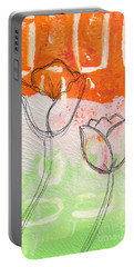 Tulips Portable Battery Charger by Linda Woods