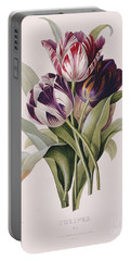 Tulips Portable Battery Charger by Pierre Joseph Redoute