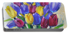 Tulips Time Love The Spring By Prankearts Portable Battery Charger