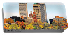 Tulsa Oklahoma In Autumn Portable Battery Charger