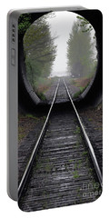 Portable Battery Charger featuring the photograph Tunnel Into The Mist  by Rod Wiens