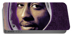 Tupac Shakur And Lyrics Portable Battery Charger