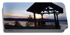 Tupper Lake Sunset Over Raquette Pond Portable Battery Charger