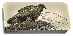 Turkey Vulture V2 Portable Battery Charger by Douglas Barnard