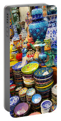 Turkish Ceramic Pottery 1 Portable Battery Charger by David Smith