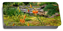 Portable Battery Charger featuring the photograph Turk's Cap Lily by Kathryn Meyer