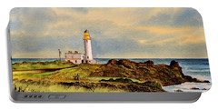 Turnberry Golf Course 9th Tee Portable Battery Charger by Bill Holkham