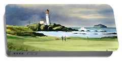 Turnberry Golf Course Scotland 10th Green Portable Battery Charger by Bill Holkham