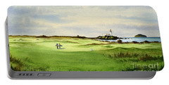 Turnberry Golf Course Scotland 12th Tee Portable Battery Charger by Bill Holkham