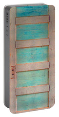 Turquoise Doorway And Ladder To The Sky Portable Battery Charger by Asha Carolyn Young