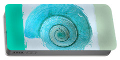 Turquoise Seashells X Portable Battery Charger