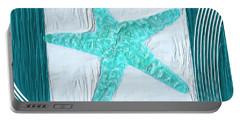 Turquoise Seashells Xvi Portable Battery Charger