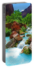 Turquoise Stream Portable Battery Charger