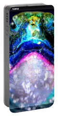 Portable Battery Charger featuring the digital art Turtle by Daniel Janda