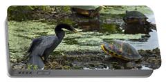 Turtles And Anhinga Portable Battery Charger