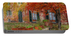 Tuscan Villa In Autumn Portable Battery Charger