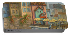 Tuscan Village Boat Paintings Portable Battery Charger