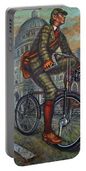 Bob On His Bantam St Pauls London Portable Battery Charger by Mark Jones