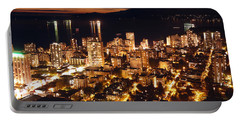 Portable Battery Charger featuring the photograph Twilight English Bay Vancouver Mdlxvii by Amyn Nasser