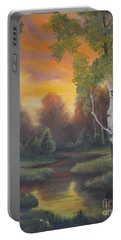 Twilight Fall  Portable Battery Charger by Sorin Apostolescu