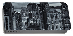 Portable Battery Charger featuring the photograph Twilight On Cityscape Of Vancouver Overlooking English Bay - Greeting Card by Amyn Nasser
