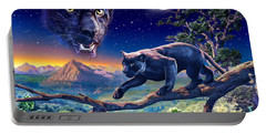 Twilight Panther Portable Battery Charger by Adrian Chesterman